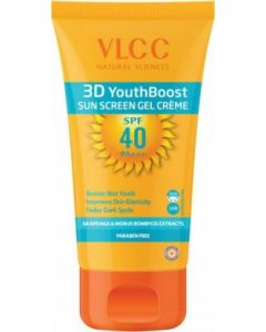 3D  Youthboost Sun Screen Gel Cream Spf40 P+++-50gm