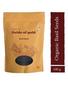 Pristine Organics Fields of Gold Basil Seeds-100gm