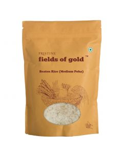 Pristine Organics Fields of Gold Organic Beaten Rice (Medium Poha)-500gm