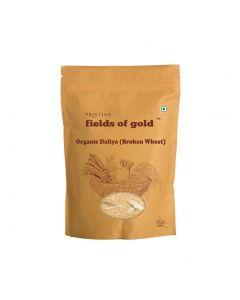 Pristine Organics Fields of Gold Organic Daliya (Broken Wheat)-500gm