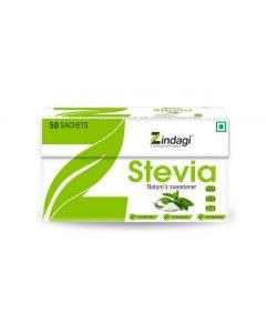Zindagi Stevia Sachets - 100% Natural Sweetener-50gm