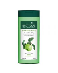 Biotique Bio Green Apple Fresh Daily Purifying Shampoo & Conditioner for Oily Scalp & Hair-180ml