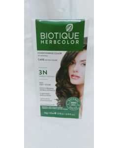 Biotique Bio Herbcolor 3n Darkest Brown-50Gm +110ml
