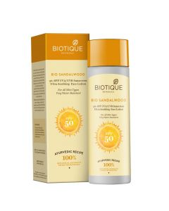 Biotique Bio Sandalwood Sunscreen Ultra Soothing Face Lotion, SPF 50+-120ml