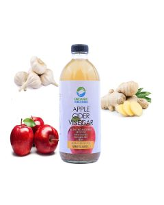 Organic Wellness Apple Cider Vinegar 500 Ml Unfiltered with Garlic and Ginger Benefits
