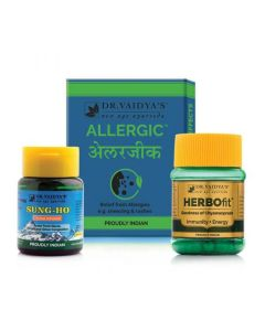 Dr. Vaidya's Allergy and Cold Pack - Allergic Pills-24X4, Herbofit- 30 capsules, Sung-Ho-10gm