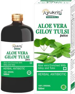 Ayukriti Herbals Aloevera Giloy Tulsi Juice-500ml