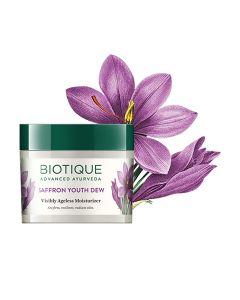 Biotique Bio Saffron Youth Dew Visibly Ageless Moisturizer-50gm