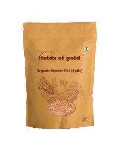 Pristine Organics Fields of Gold Organic Masoor Dal (Split)-1kg