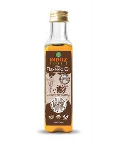 Induz Organic Flexi Flaxseed Oil (Cold Pressed) -100Ml.