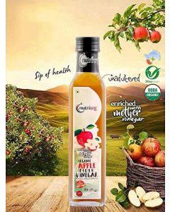Nutriorg Certified Organic Raw Apple Cider Vinegar with Mother Vinegar-500ml Glass Bottle
