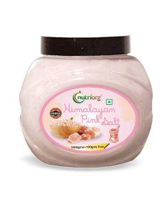 Nutriorg Premium Quality Himalayan Pink Salt Powder-1000gm