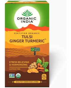 Organic India Tulsi Ginger Turmeric Tea-25 Infusion Bags