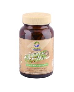 Organic Wellness Heal Acne - Never Acne Relief Supplement-90 Capsules