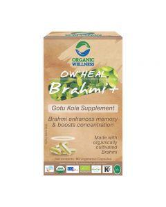 Organic Wellness Heal Brahmi+ Gotu Kola Supplement-90 Capsules
