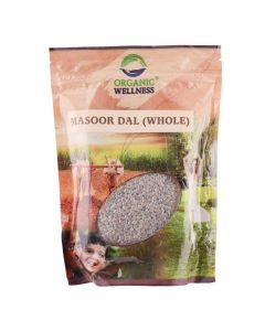 Organic Wellness Masoor Dal Whole-500gm
