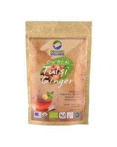 Organic Wellness Real Tulsi Ginger Green Tea-100gm Zipper Pouch