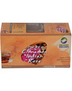 Organic Wellness Real Cinnamon Indian Rose-25 Tea Bags