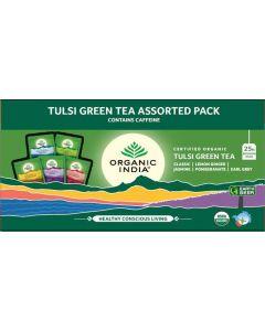 Organic India Tulsi Green Tea Assorted 25 Tea Bags
