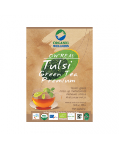 Organic Wellness Real Green Tea Premium-100gm Zipper Pouch