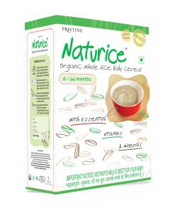 Pristine Organics Naturice – Organic Whole Rice Baby Cereal (6 Months – 24 Months)-300gm