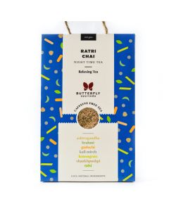 Butterfly Ayurveda Ratri Chai (Night Time Tea) Relaxing Herbal Infusion-100gm