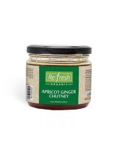 Refresh Organic Apricot Ginger Chutney-350gm