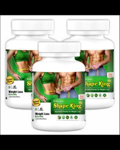 Kaahan Ayurveda Shape King-60Capsules Pack of 3pc