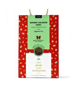 Butterfly Ayurveda Shubh Saanjh Chai with Darjeeling Green Tea Leaves-40gm 20 tea bags