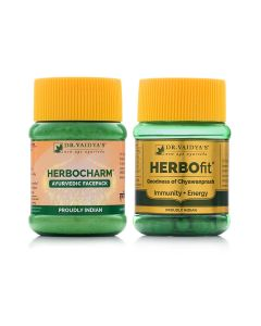 Dr. Vaidya's Skin Care Pack Herbo charm 100 Gms and Herbofit-30 Capsules