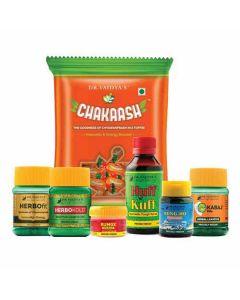 DR.VAIDYA'S AYURVEDIC PACK FOR STUDENTS - Herbofit-30 CapsulesX1, Chakaash-50 Toffee X1, SungHo-10gmX1, Rumox-12gmX1, Huff N Kuff Syrup-100ml X1, Kabaj Pills-30 PillsX2
