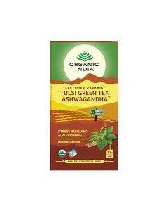 Organic india Tulsi Green Tea Ashwagandha 25 Tea Bags
