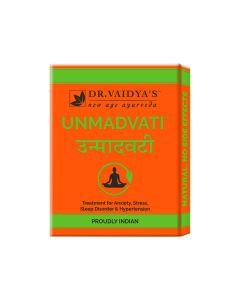 Dr. Vaidya's Unmadvati Pills Pack of 3 Sleep, Anxiety, Stress & Hypertension-72 Pills