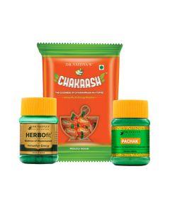Dr. Vaidya's Weight Gain Pack Pachak -100gm Herbofit -30 Capsules and Chakaash