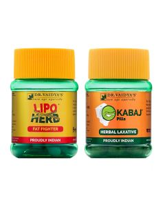 Dr. Vaidya's - Weight Reduction Pack Lipoherb - 30 X 3 Caspules and Kabaj Pills-30 Pills