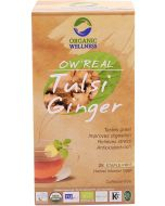 Organic Wellness Real Tulsi Ginger-25 Tea Bags