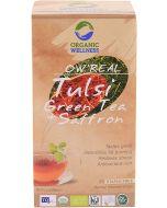 Organic Wellness Real Tulsi Green Tea + Saffron-25 Tea Bags